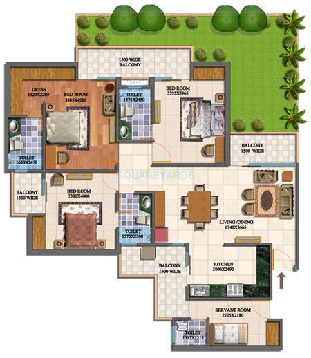 purvanchal royal city apartment gf 3bhk 1970sqft 1