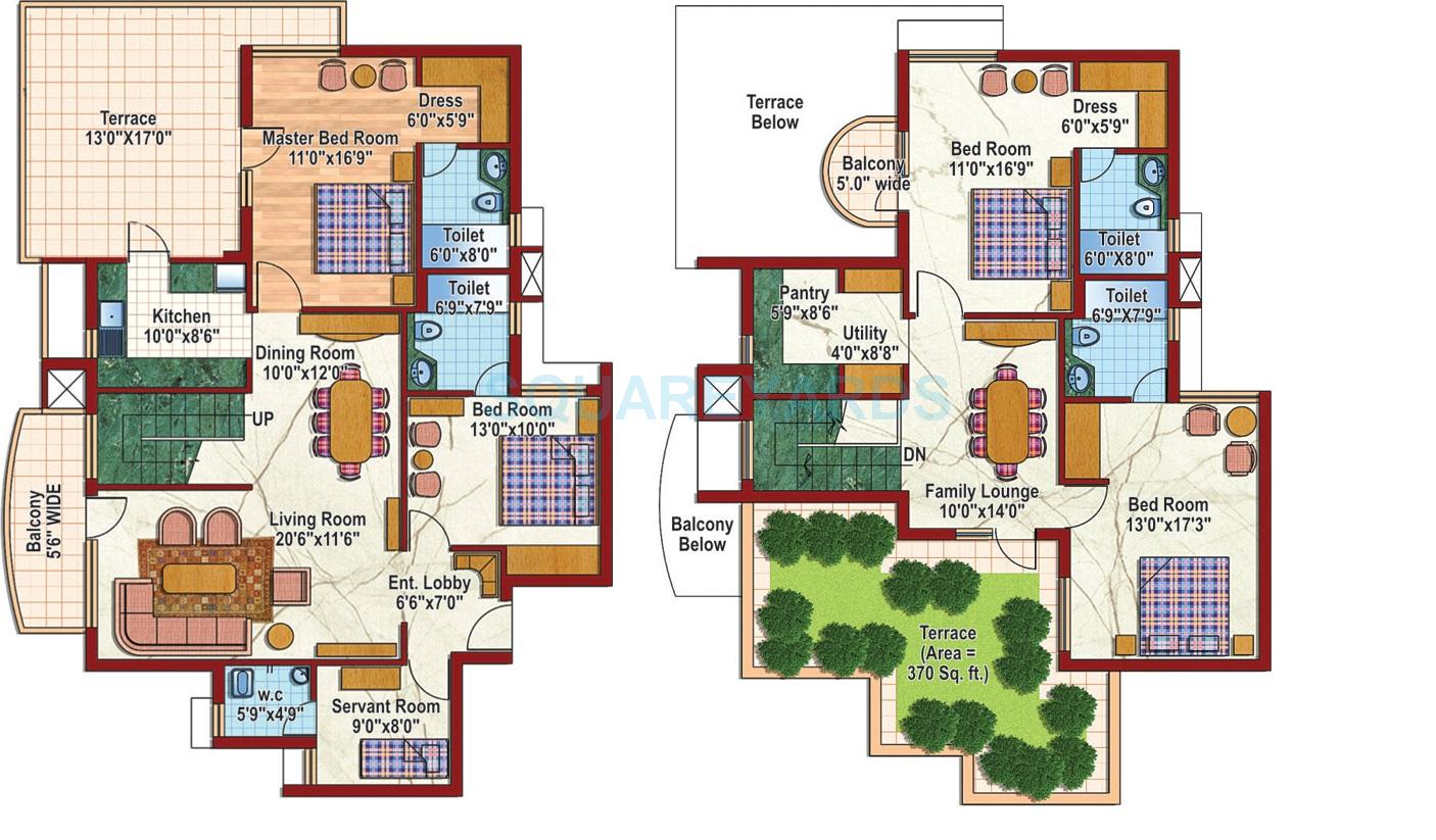 purvanchal silver city ii penthouse 4bhk 2495sqft 1