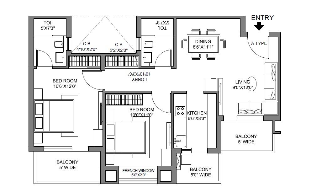 radhey krishna casa green i apartment 2bhk 1050sqft 31
