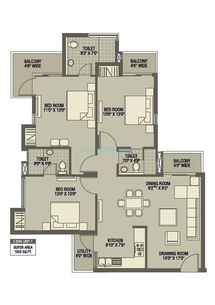 ratan pearls apartment 3bhk 1553sqft 1