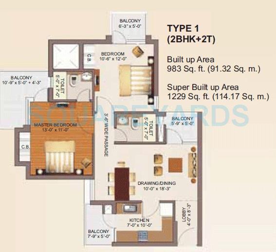 rg luxury homes apartment 2bhk 1229sqft 1