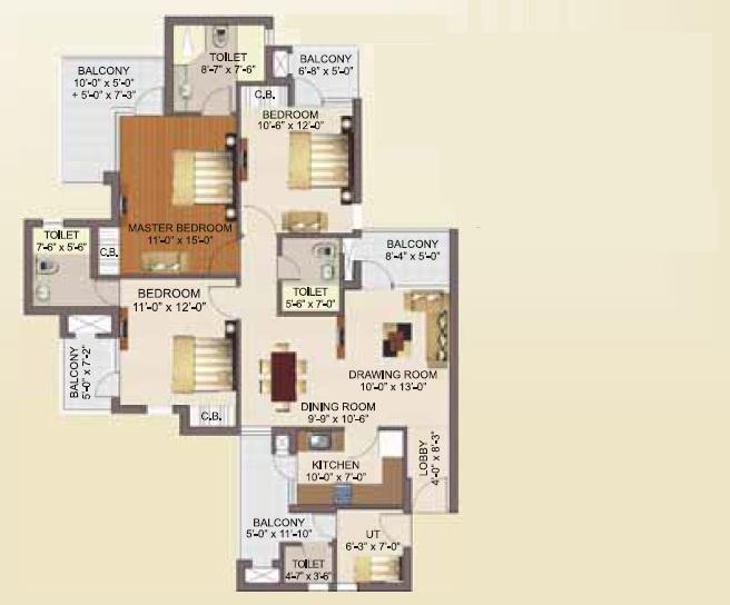 rg luxury homes apartment 3bhk sq 1882sqft101