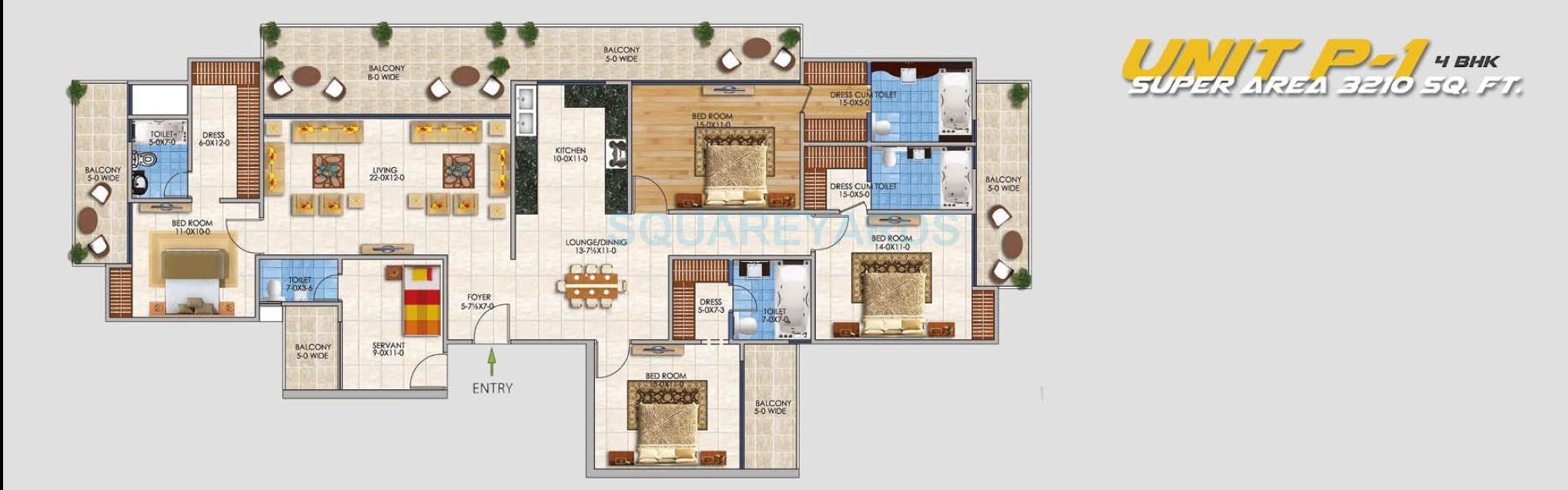 rsl sportshome apartment 4bhk 3210sqft 1
