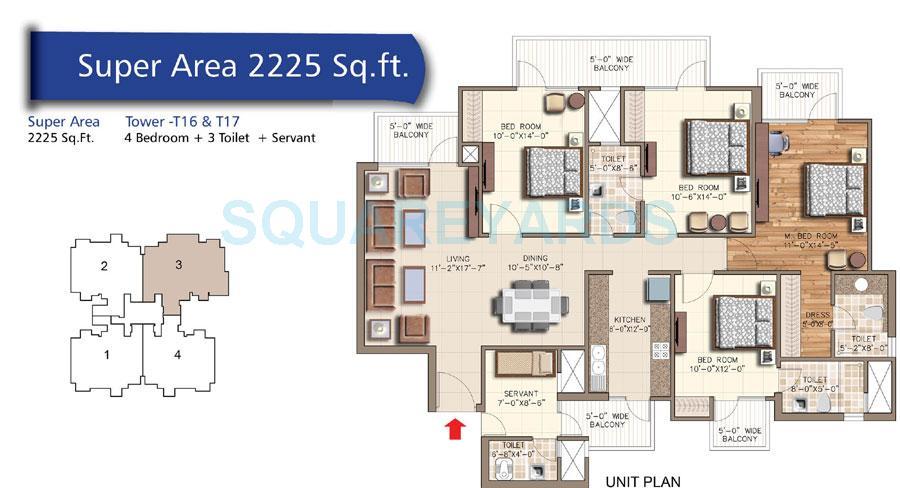 rudra aquacasa apartment 4bhk 2225sqft 1