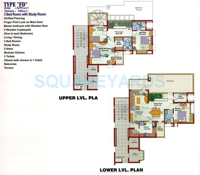 samiah vrinda city apartment 3bhk 2275sqft 1