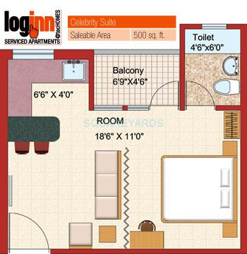 shubhkamna advert loginn apartment 1bhk 500sqft 1