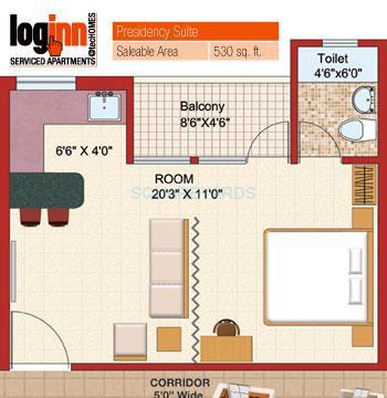 shubhkamna advert loginn apartment 1bhk 530sqft 1