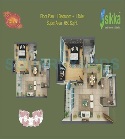 sikka kaamna apartment 1bhk 650sqft 1