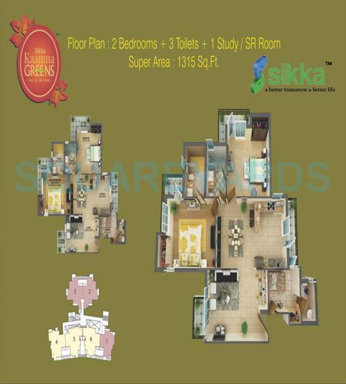 sikka kaamna apartment 2bhk sq 1315sqft 1