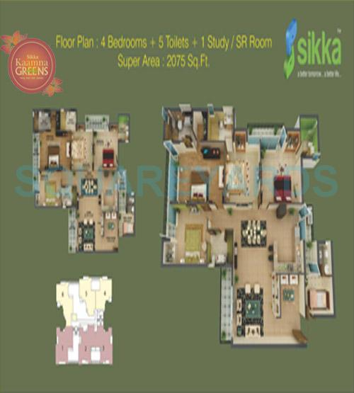 sikka kaamna apartment 4bhk sq 2075sqft 1