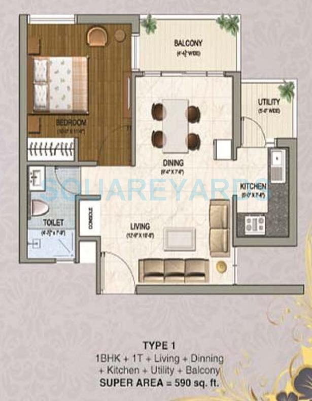 sikka karnam apartment 1bhk 590sqft 1