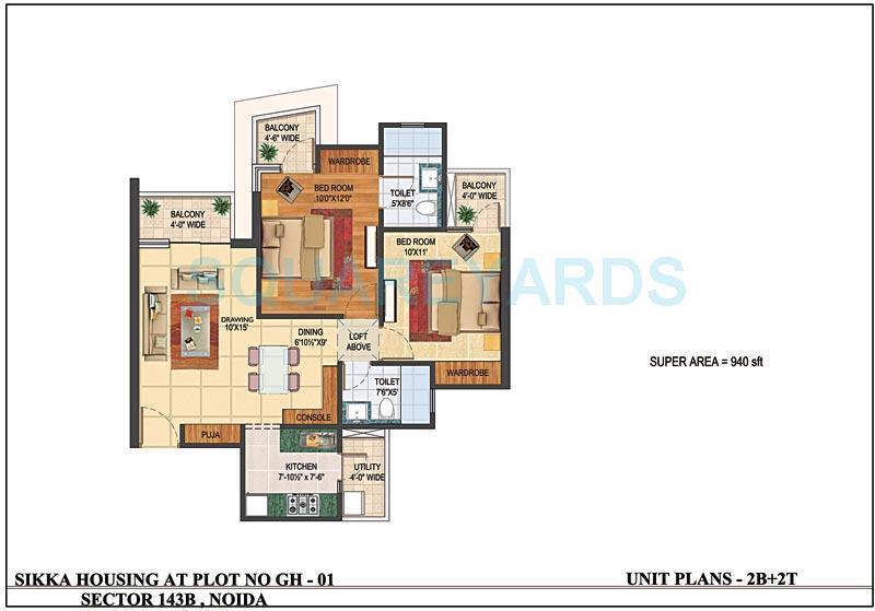 sikka karnam apartment 2bhk 940sqft 1