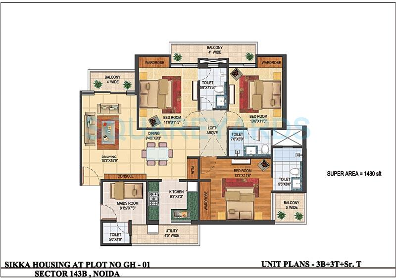 sikka karnam apartment 3bhk sq 1480sqft 1