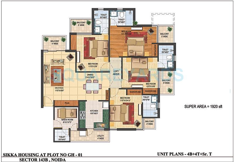 sikka karnam apartment 4bhk sq 1920sqft 1