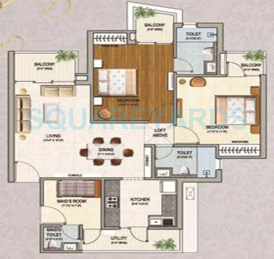 sikka karnam greens apartment 2bhk 1150sqft 1