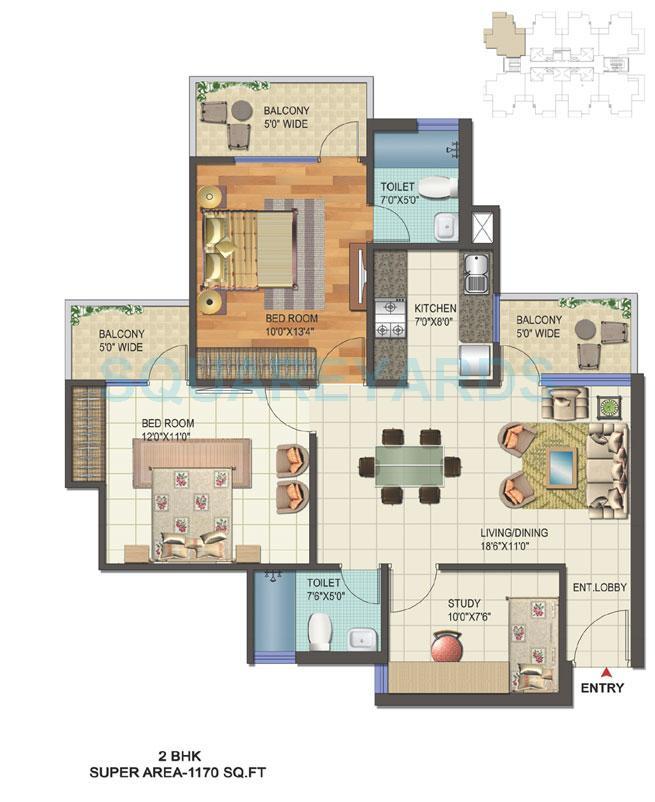 skyline grand prix apartment 2bhk sq 1170sqft 1