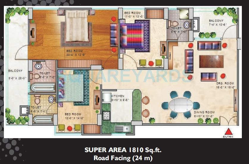 spark divine apartment 3bhk 1810sqft 1