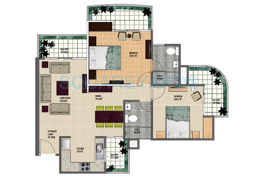 strategic royal court apartment 2bhk 1230sqft 1