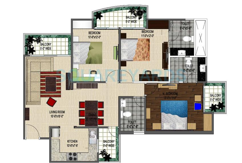 strategic royal court apartment 3bhk 1560sqft 1