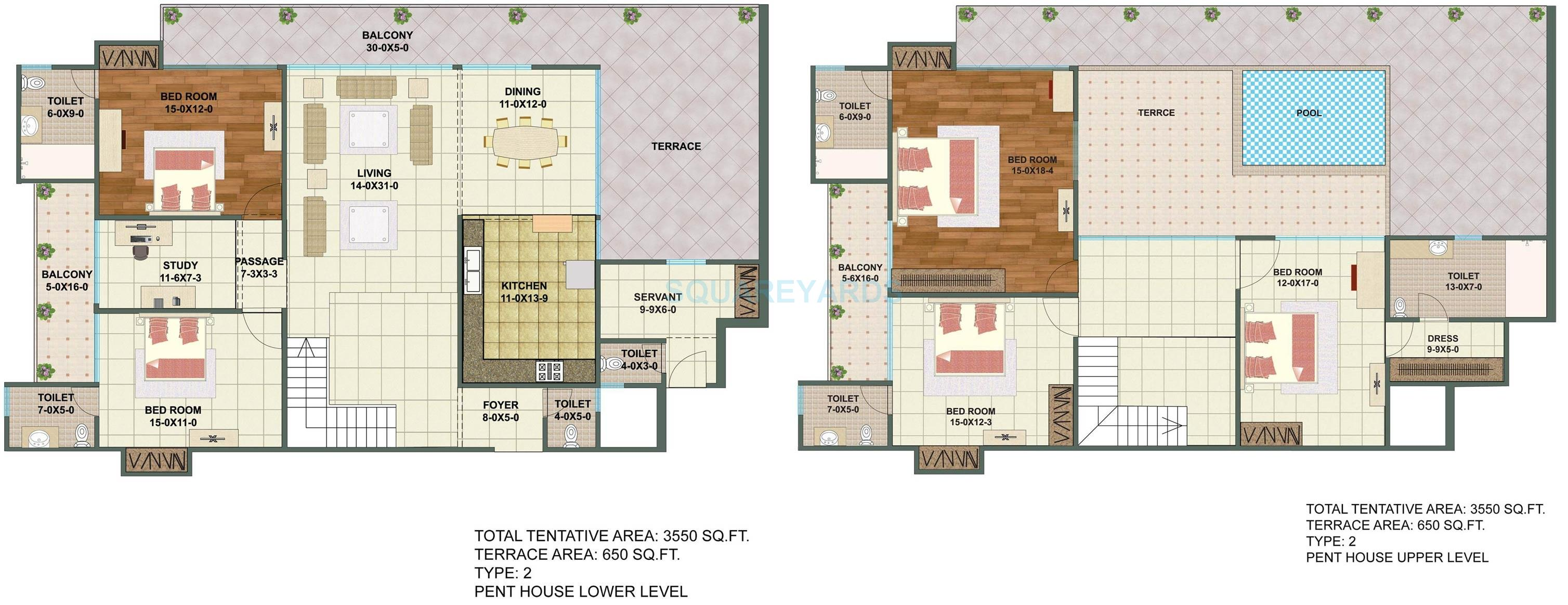 sunshine helios in sector 78 noida project overview unit plans 5 bhk 3550 sq ft penthouse floor plan
