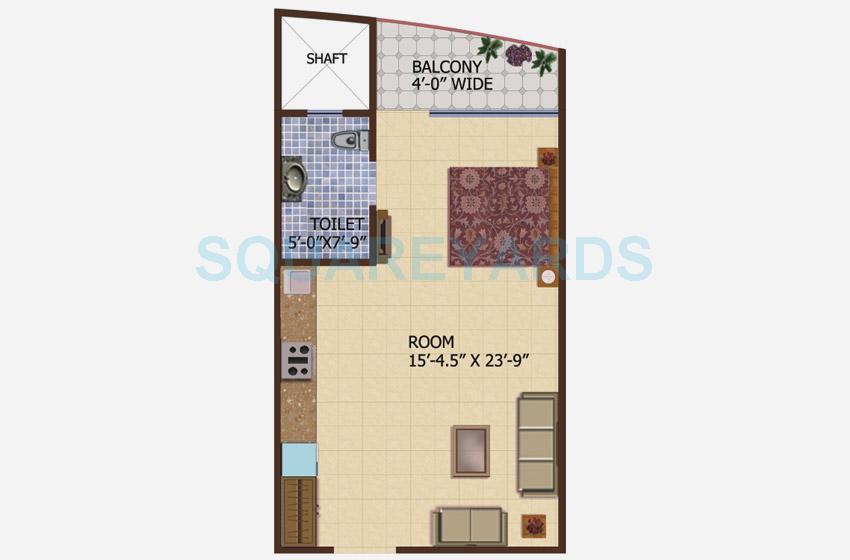 supertech ceyane tower apartment 1bhk 595sqft 1