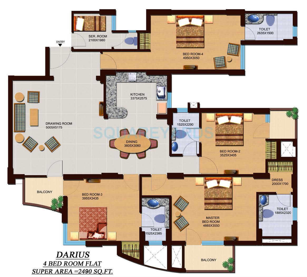 supertech czar suites apartment 4bhk 2490sqft 1