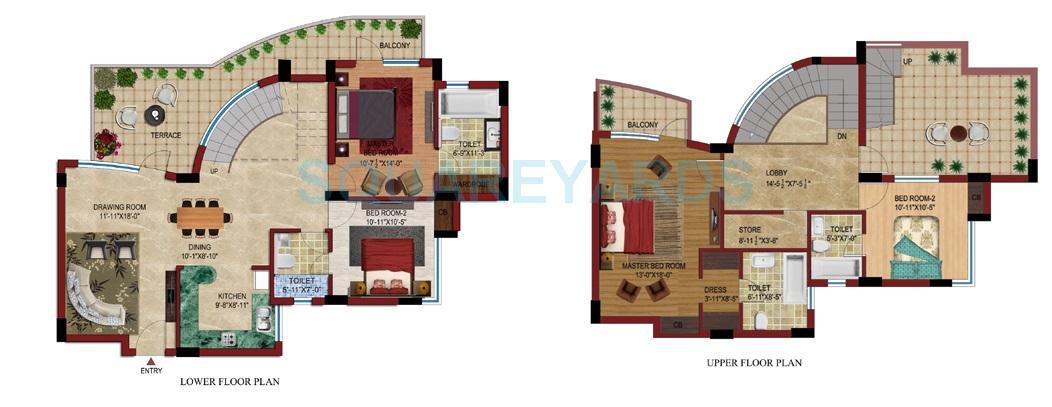 supertech czar suites penthouse 4bhk 2915sqft 1