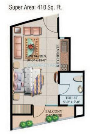 supertech eco suite apartment 1bhk 410sqft 1