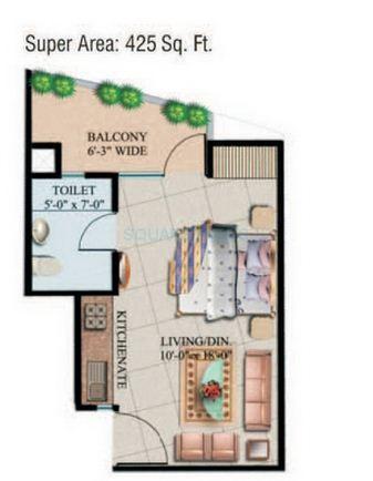 supertech eco suite apartment 1bhk 425sqft 1