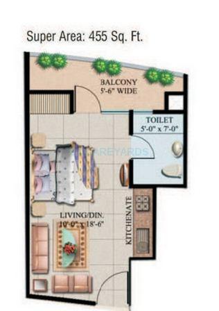 supertech eco suite apartment 1bhk 455sqft 1