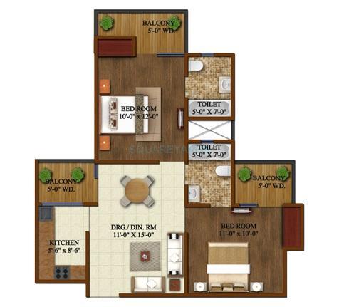 supertech grand circuit apartment 2bhk 900sqft 1