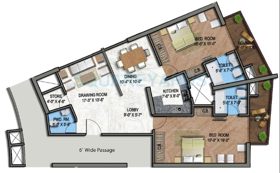 supertech north eye apartment 2bhk 1495sqft 1