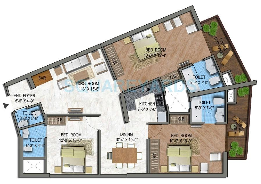 supertech north eye apartment 2bhk st 1675sqft 1