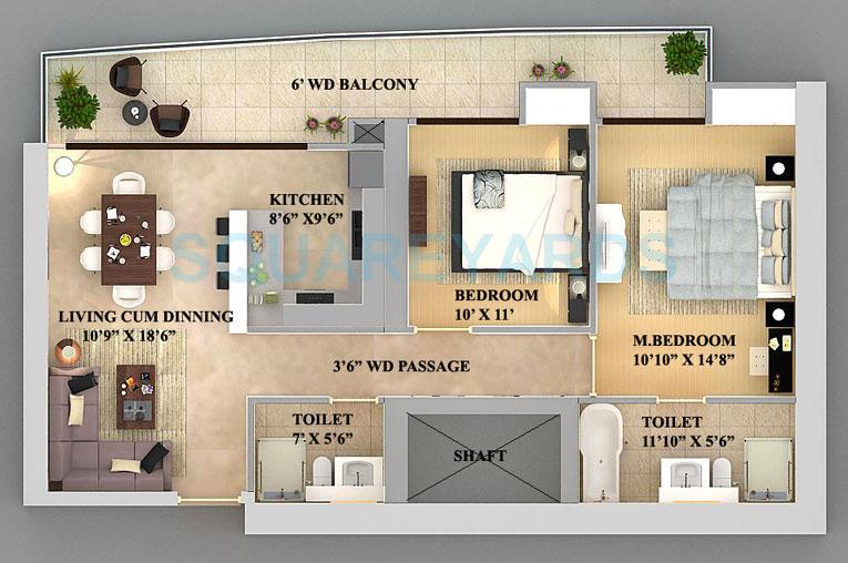 supertech nova residences apartment 2bhk 1330sqft 1