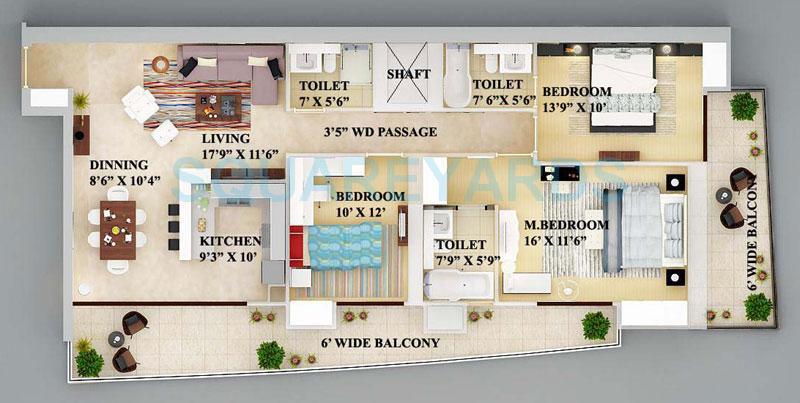 supertech nova residences apartment 3bhk 2040sqft 1