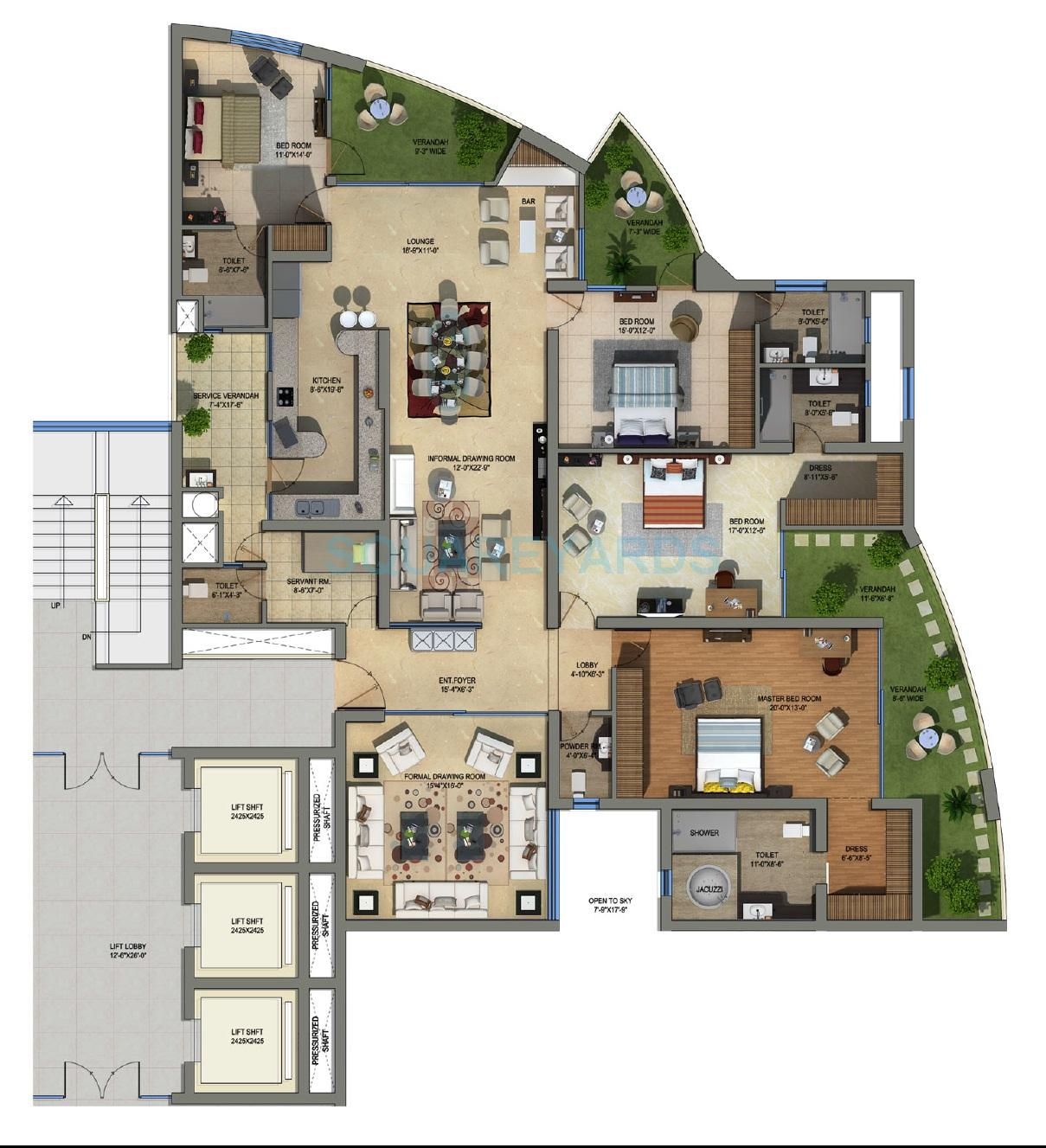 supertech orb apartment 4bhk sq 1470sqft 1