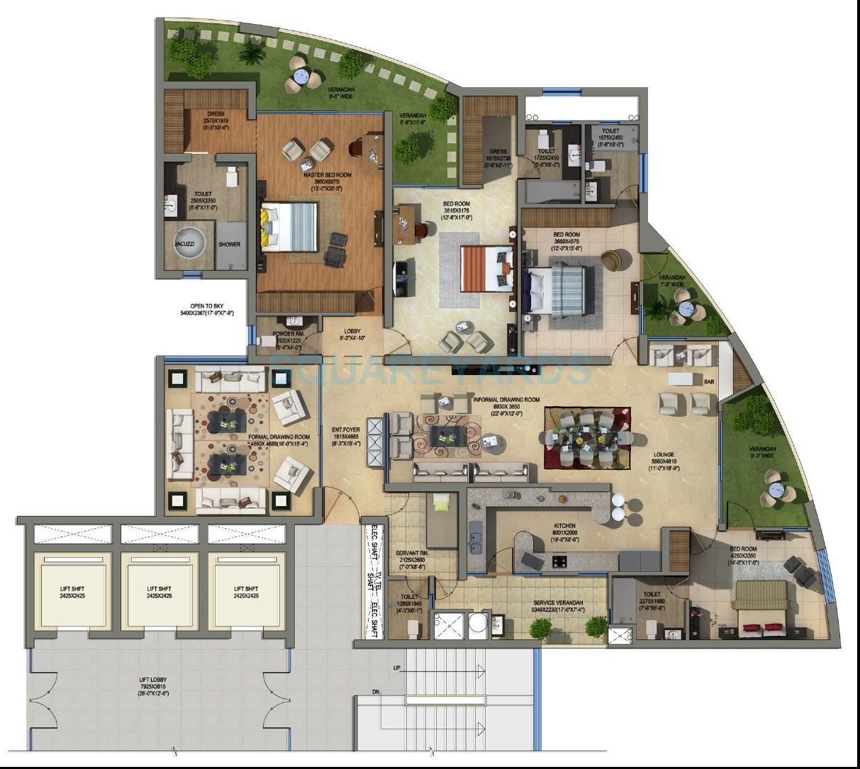 supertech orb apartment 4bhk sq 4210sqft 1