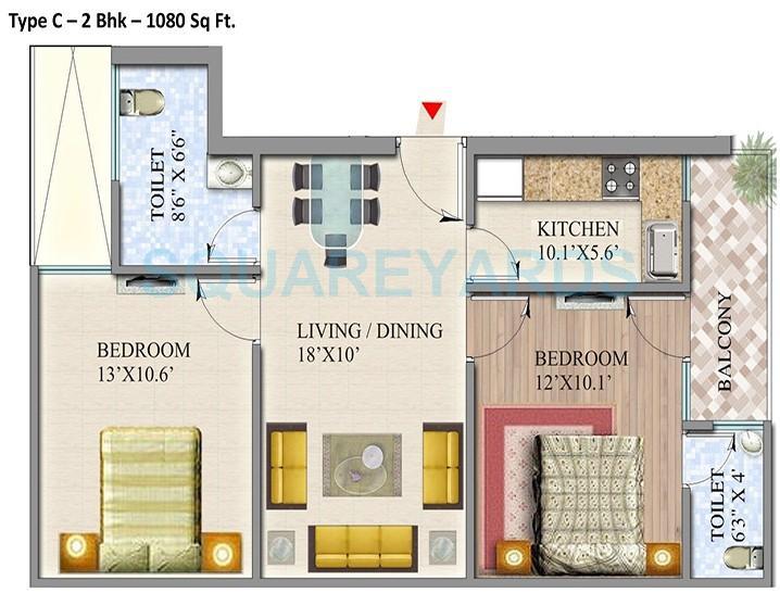 suvidha homes apartment 2bhk 1080sqft 1