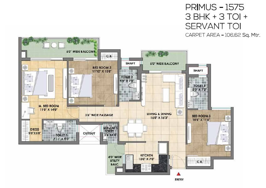 tata destination 150 apartment 3bhk 1575sqft 1