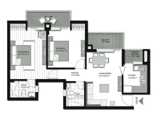 tata eureka park apartment 2bhk 648sqft41