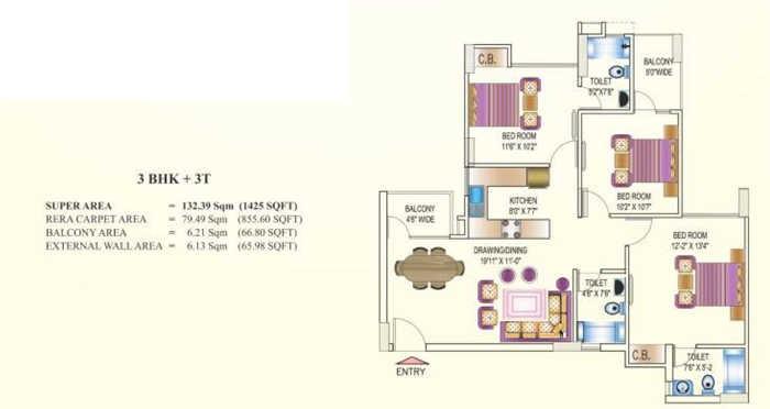 today kings park apartment 3 bhk 1425sqft 20202611182639