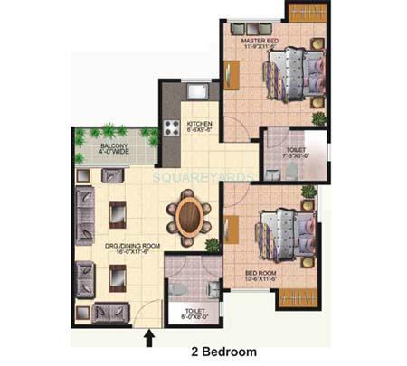 today ridge residency apartment 2bhk 1075sqft 1