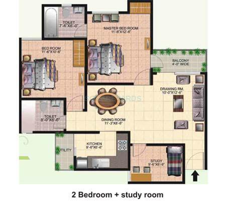 today ridge residency apartment 2bhk 1225sqft 1