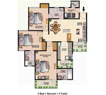today ridge residency apartment 3bhk 1665sqft 1