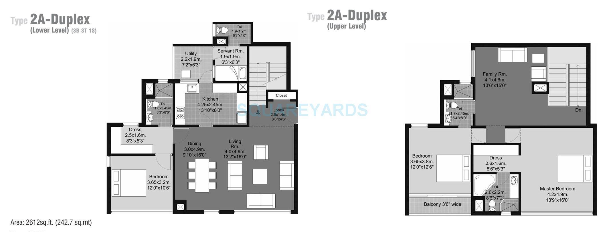 unitech habitat apartment 3bhk sq 2612sqft 1