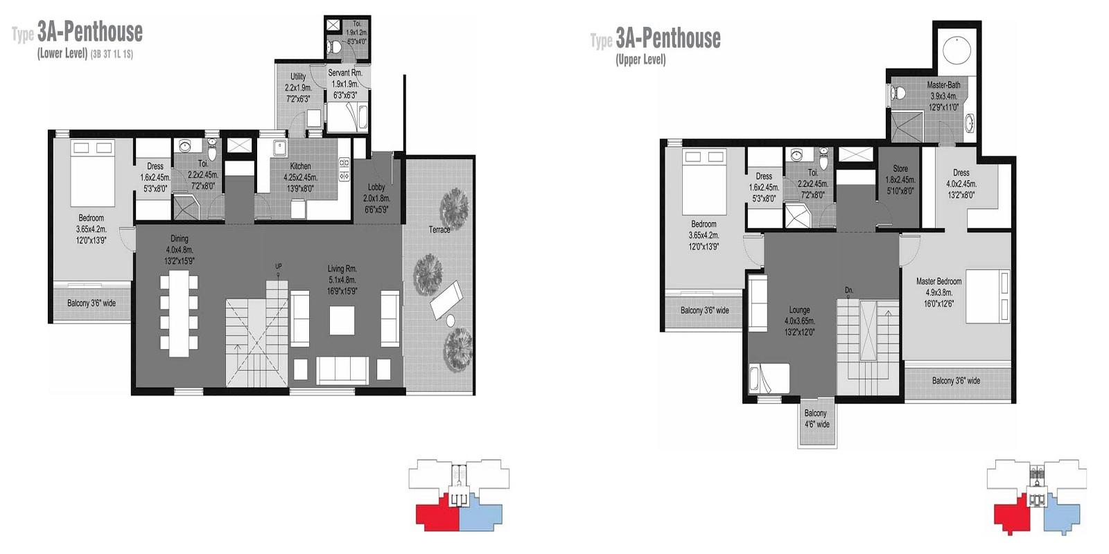 unitech habitat penthouse 3bhk sq 3491sqft 81