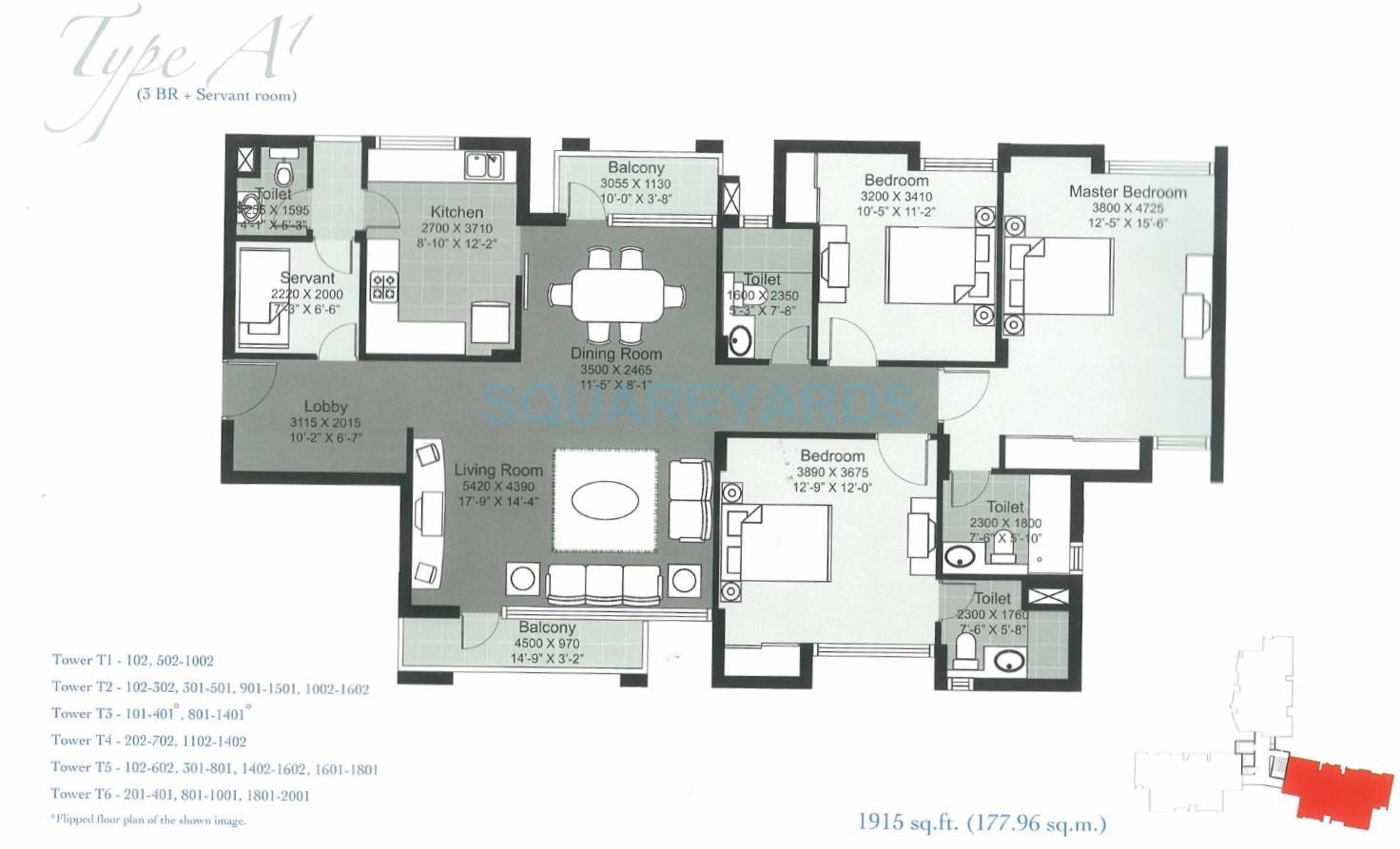 unitech height apartment 3bhk sq 1915sqft 1
