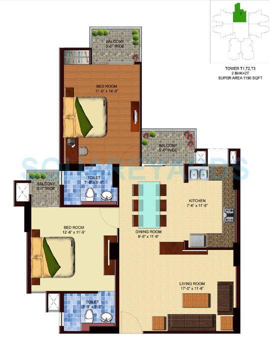 unnati fortune aranya apartment 2bhk 1190sqft 1