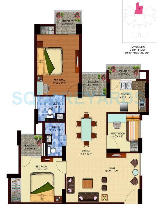 unnati fortune aranya apartment 2bhk st 1250sqft 1