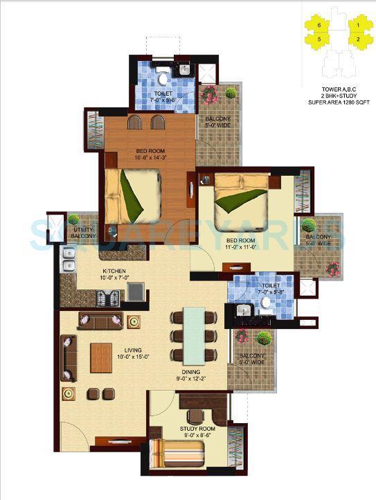 unnati fortune aranya apartment 2bhk st 1280sqft 1